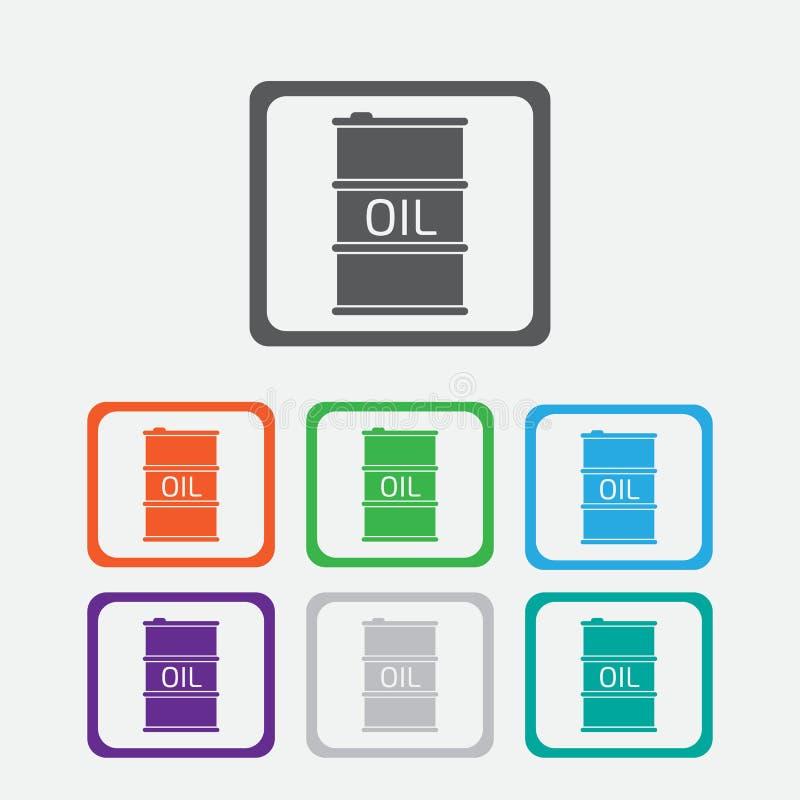Εικονίδιο βαρελιών πετρελαίου ή σημάδι, απεικόνιση εικονίδιο χρώματος με το πλαίσιο διανυσματική απεικόνιση