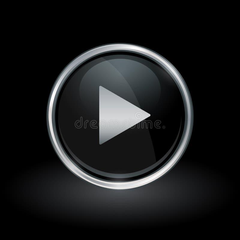 Εικονίδιο βελών παιχνιδιού MEDIA μέσα στο στρογγυλό ασημένιο και μαύρο έμβλημα διανυσματική απεικόνιση