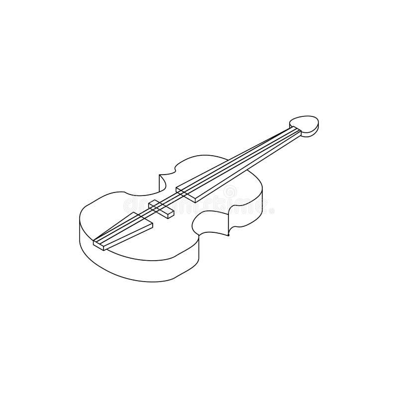 Εικονίδιο βιολιών, isometric τρισδιάστατο ύφος ελεύθερη απεικόνιση δικαιώματος