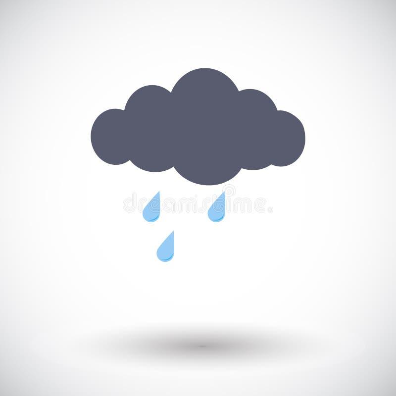 Εικονίδιο βροχής διανυσματική απεικόνιση