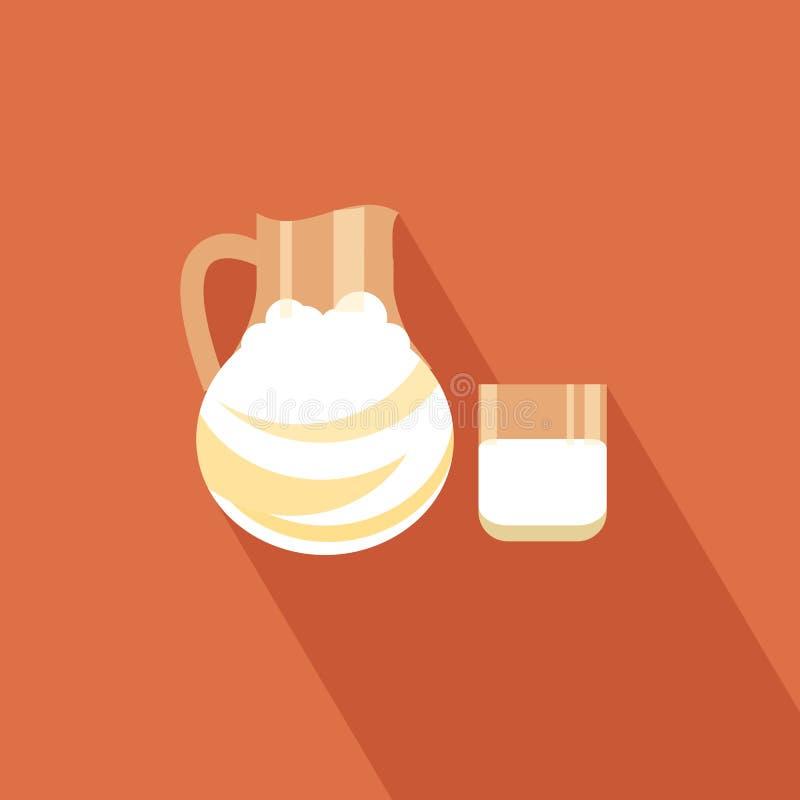Εικονίδιο γάλακτος απεικόνιση αποθεμάτων