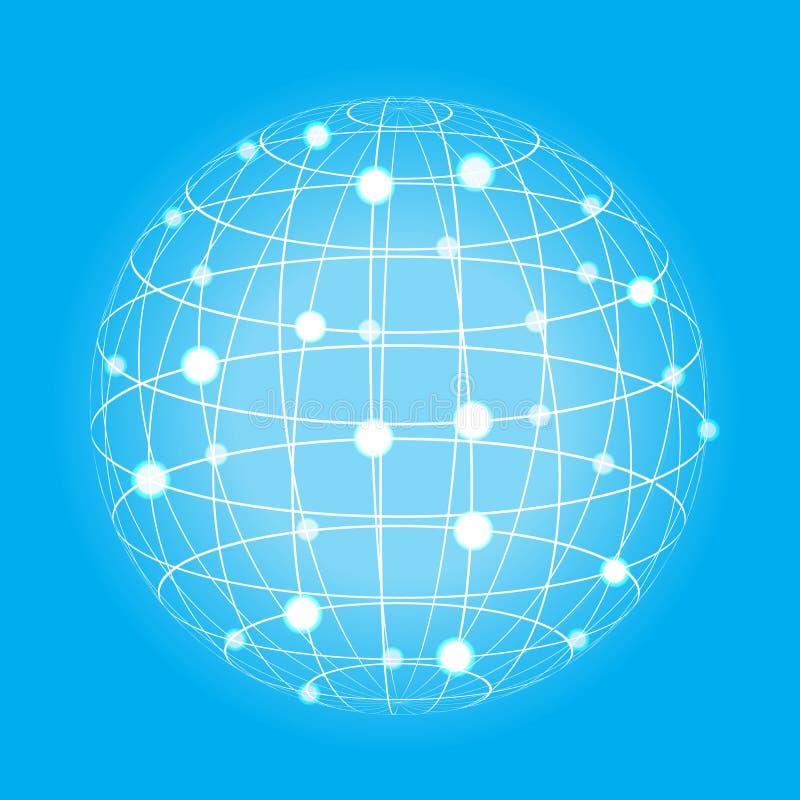 Εικονίδιο γήινων σφαιρών πλέγματος ελεύθερη απεικόνιση δικαιώματος
