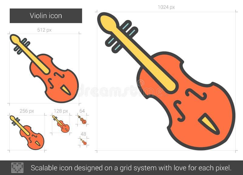 Εικονίδιο γραμμών βιολιών ελεύθερη απεικόνιση δικαιώματος