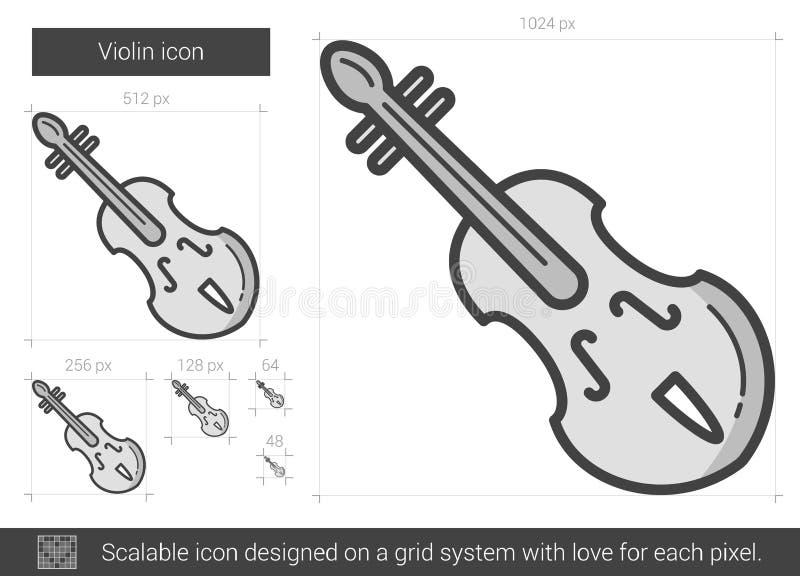 Εικονίδιο γραμμών βιολιών διανυσματική απεικόνιση