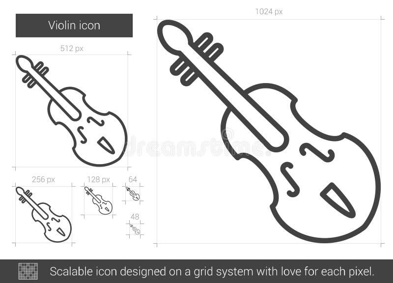 Εικονίδιο γραμμών βιολιών απεικόνιση αποθεμάτων
