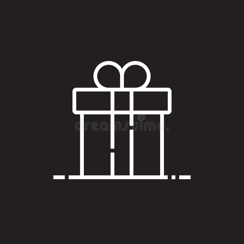 Εικονίδιο γραμμών κιβωτίων δώρων, διανυσματική απεικόνιση λογότυπων περιλήψεων, γραμμικό PIC διανυσματική απεικόνιση