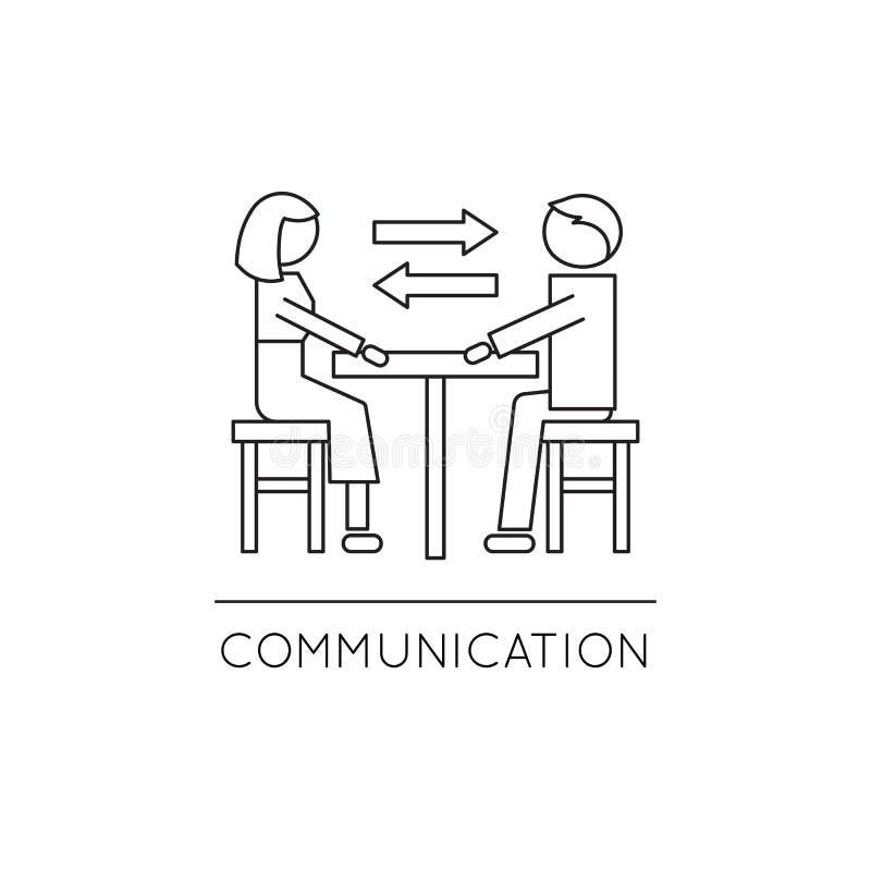 Εικονίδιο γραμμών οικογενειακής επικοινωνίας ελεύθερη απεικόνιση δικαιώματος