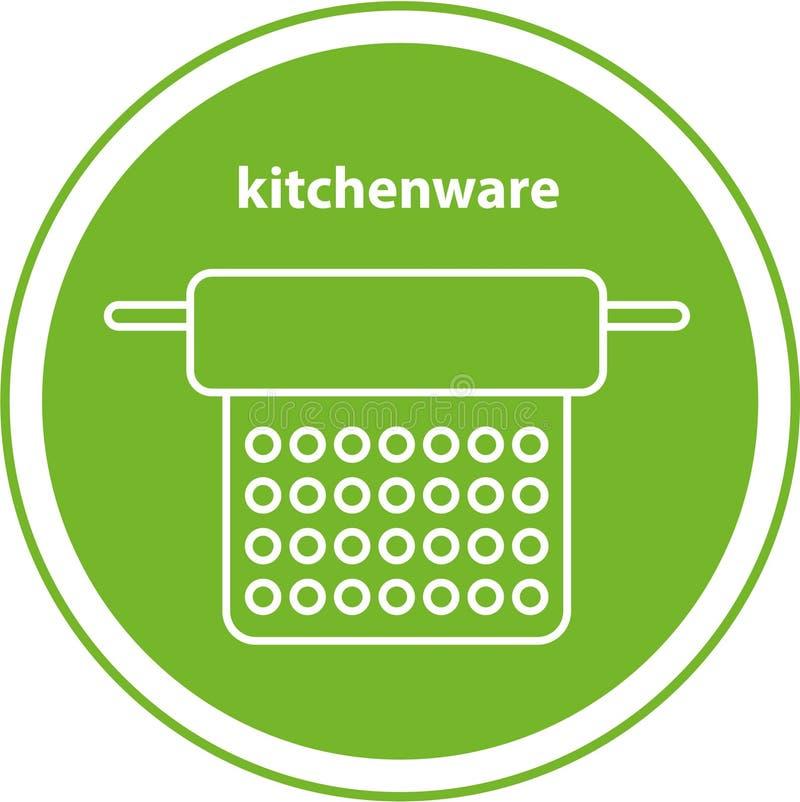 Εικονίδιο γραμμών kitchenware διανυσματική απεικόνιση