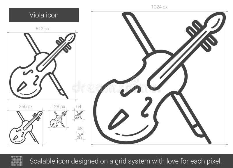 Εικονίδιο γραμμών Viola ελεύθερη απεικόνιση δικαιώματος
