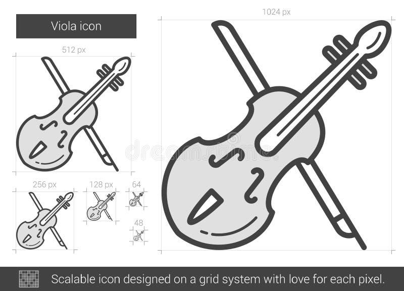 Εικονίδιο γραμμών Viola απεικόνιση αποθεμάτων