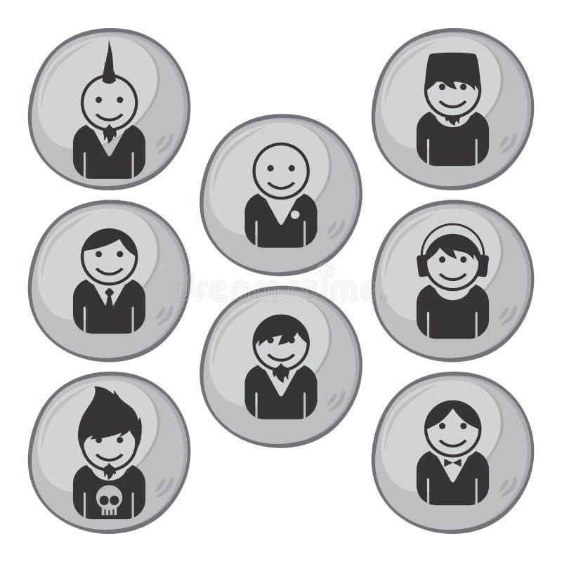 Download Εικονίδιο εικόνων πορτρέτου ειδώλων Διανυσματική απεικόνιση - εικονογραφία από τρίχωμα, φίλων: 62712026