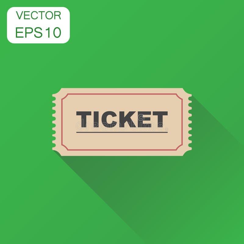 Εικονίδιο εισιτηρίων Η επιχειρησιακή έννοια αναγνωρίζει ένα εικονόγραμμα εισιτηρίων διάνυσμα διανυσματική απεικόνιση
