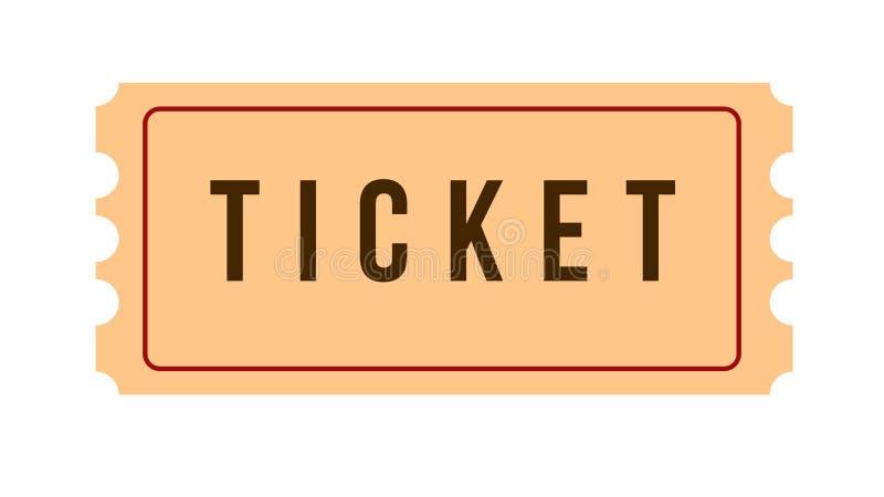 Εικονίδιο εισιτηρίων στοκ φωτογραφία με δικαίωμα ελεύθερης χρήσης