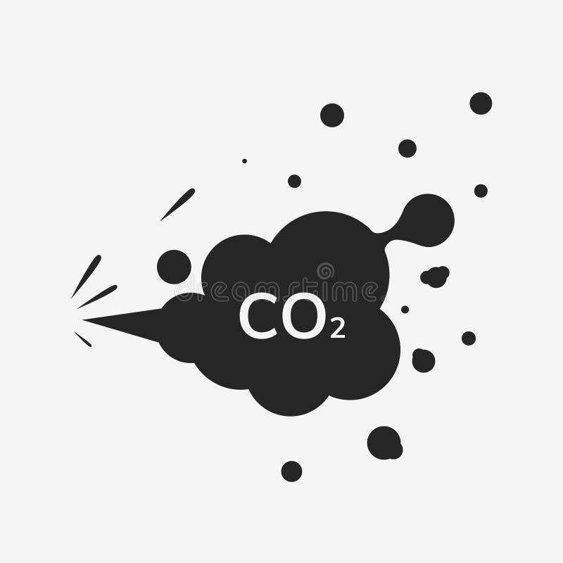 Εικονίδιο εκπομπών του CO2 ελεύθερη απεικόνιση δικαιώματος