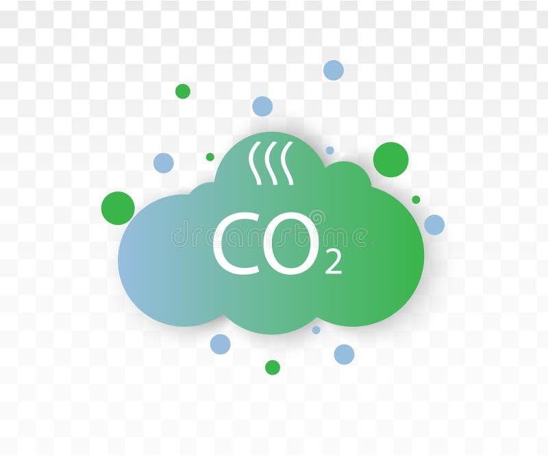 Εικονίδιο εκπομπών του CO2 διανυσματική απεικόνιση