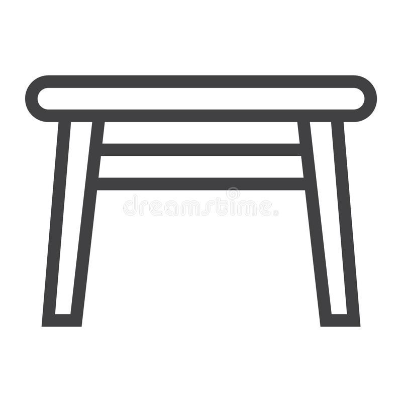 Εικονίδιο επιτραπέζιων γραμμών, έπιπλα και εσωτερικό στοιχείο διανυσματική απεικόνιση
