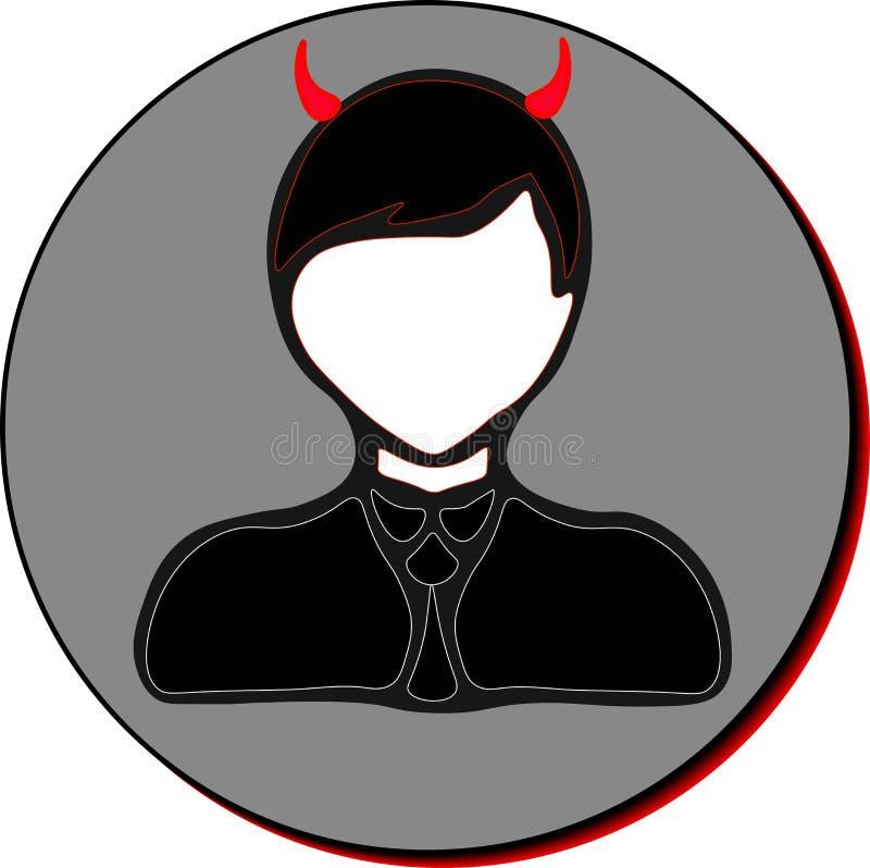 Εικονίδιο επιχειρηματιών, διάβολος στοκ φωτογραφία