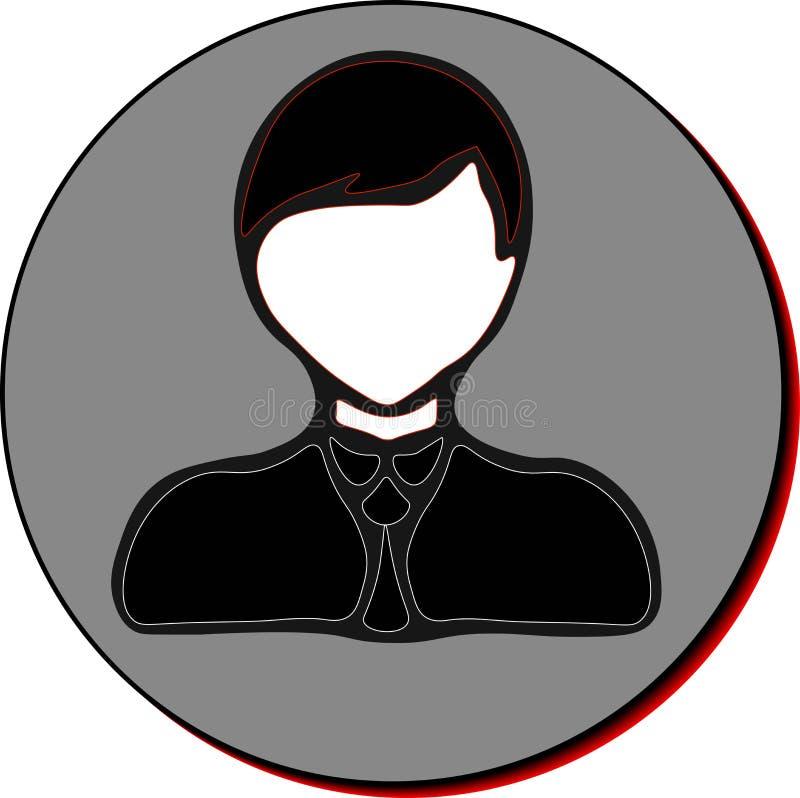 Εικονίδιο επιχειρηματιών στοκ εικόνα