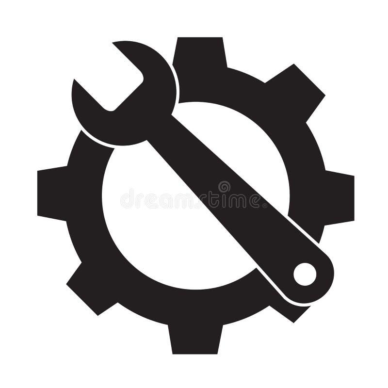 Εικονίδιο εργαλείων υπηρεσιών στο άσπρο υπόβαθρο διανυσματική απεικόνιση