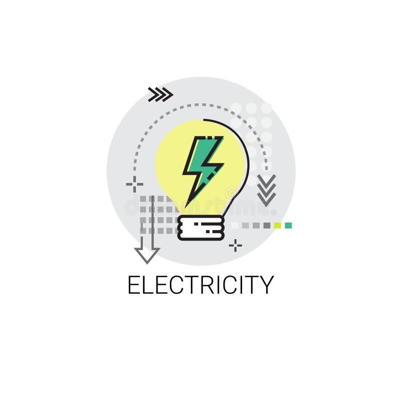 Εικονίδιο εφευρέσεων δύναμης ενεργειακού εφοδιασμού ηλεκτρικής ενέργειας ελεύθερη απεικόνιση δικαιώματος