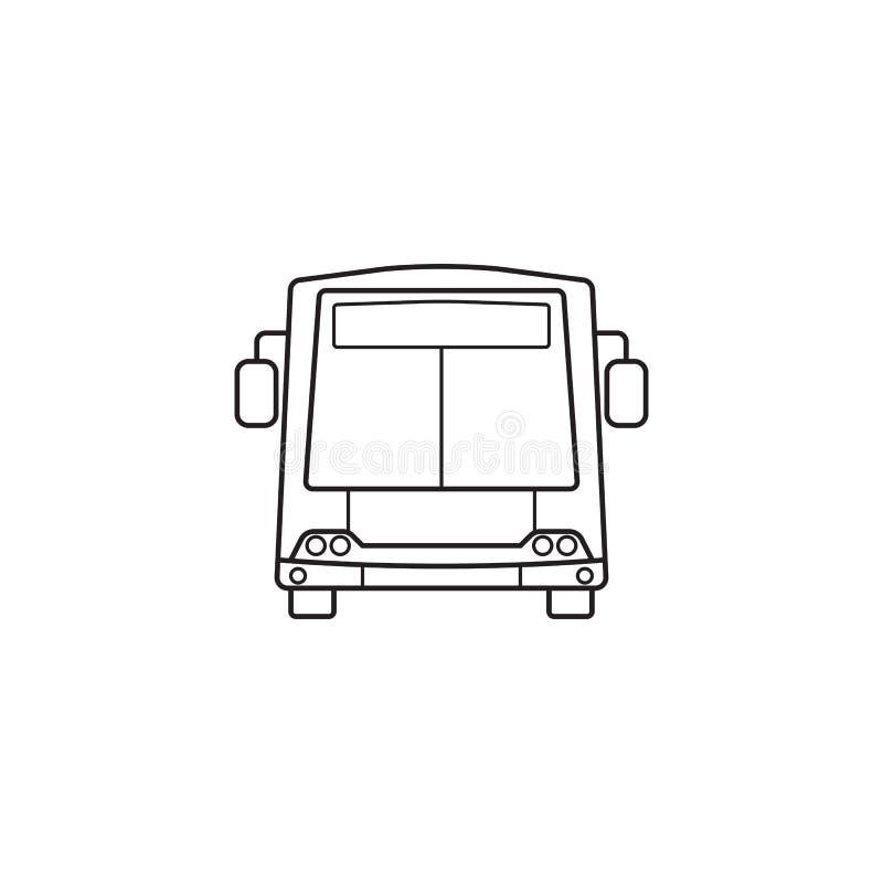 Εικονίδιο λεωφορείων, διανυσματική γραφική παράσταση συμβόλων δημόσιων συγκοινωνιών απεικόνιση αποθεμάτων