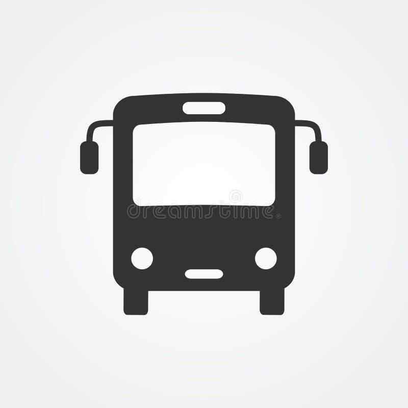 Εικονίδιο λεωφορείων απεικόνιση αποθεμάτων