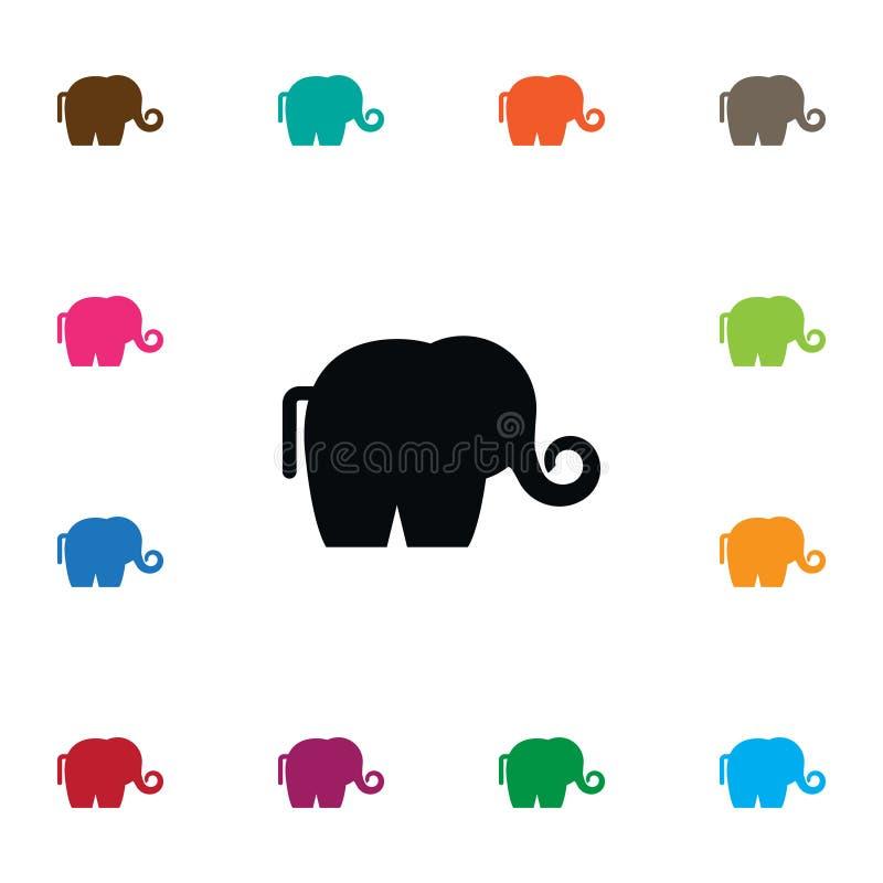 Εικονίδιο ελεφαντόδοντου Το διακλαδωμένο ζωικό διανυσματικό στοιχείο μπορεί να χρησιμοποιηθεί για το ελεφαντόδοντο, ελέφαντας, δι απεικόνιση αποθεμάτων