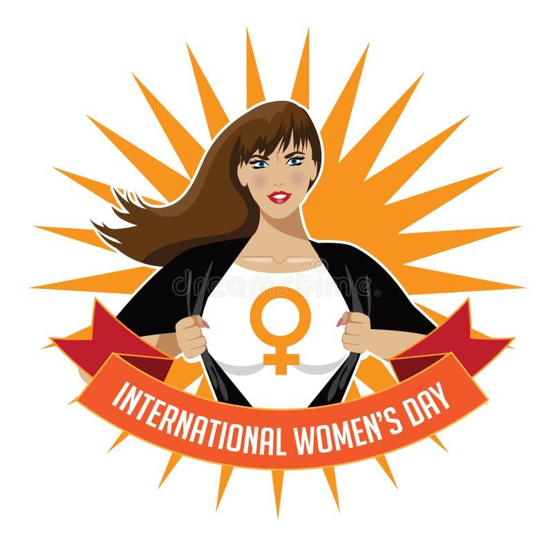 Εικονίδιο ημέρας των διεθνών γυναικών στο λευκό διανυσματική απεικόνιση