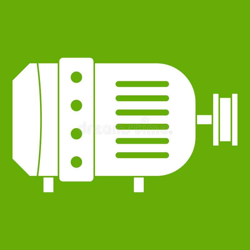 Εικονίδιο ηλεκτρικών κινητήρων πράσινο απεικόνιση αποθεμάτων