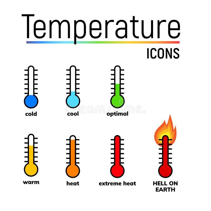 Εικονίδιο θερμοκρασίας, τέχνη συνδετήρων απεικόνιση αποθεμάτων