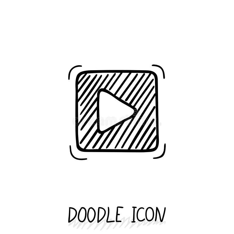Εικονίδιο Ιστού κουμπιών παιχνιδιού Doodle επίσης corel σύρετε το διάνυσμα απεικόνισης διανυσματική απεικόνιση