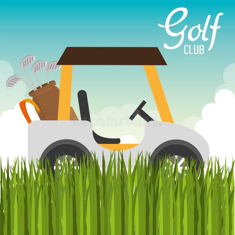 εικονίδιο κάρρων γκολφ κλαμπ απεικόνιση αποθεμάτων