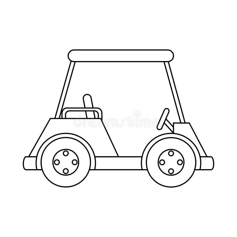 εικονίδιο κάρρων γκολφ κλαμπ διανυσματική απεικόνιση