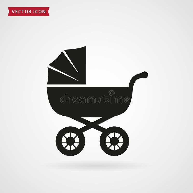 Εικονίδιο καροτσακιών μωρών ελεύθερη απεικόνιση δικαιώματος
