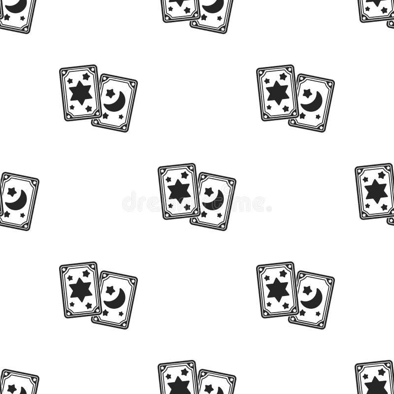 Εικονίδιο καρτών Tarot στο μαύρο ύφος που απομονώνεται στο άσπρο υπόβαθρο Γραπτή μαγική διανυσματική απεικόνιση αποθεμάτων σχεδίω ελεύθερη απεικόνιση δικαιώματος