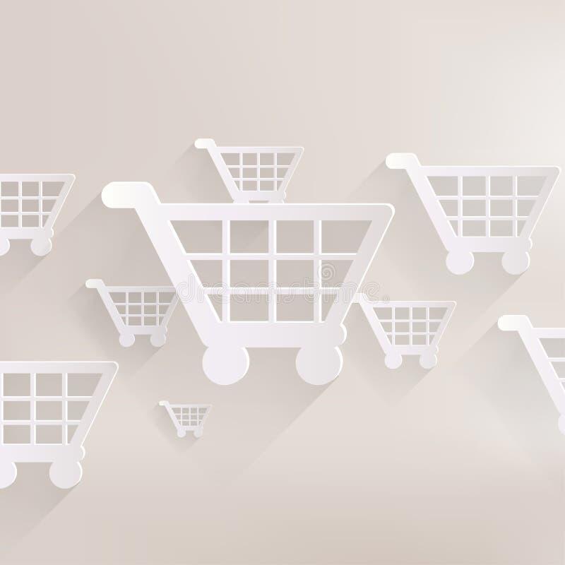 Εικονίδιο καλαθιών αγορών διανυσματική απεικόνιση