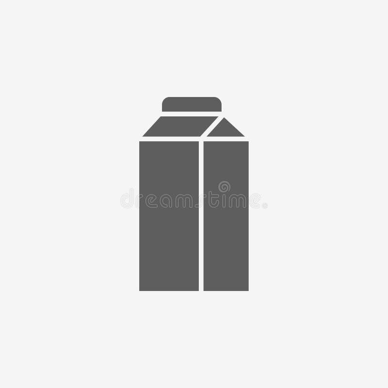 Εικονίδιο κιβωτίων γάλακτος ελεύθερη απεικόνιση δικαιώματος
