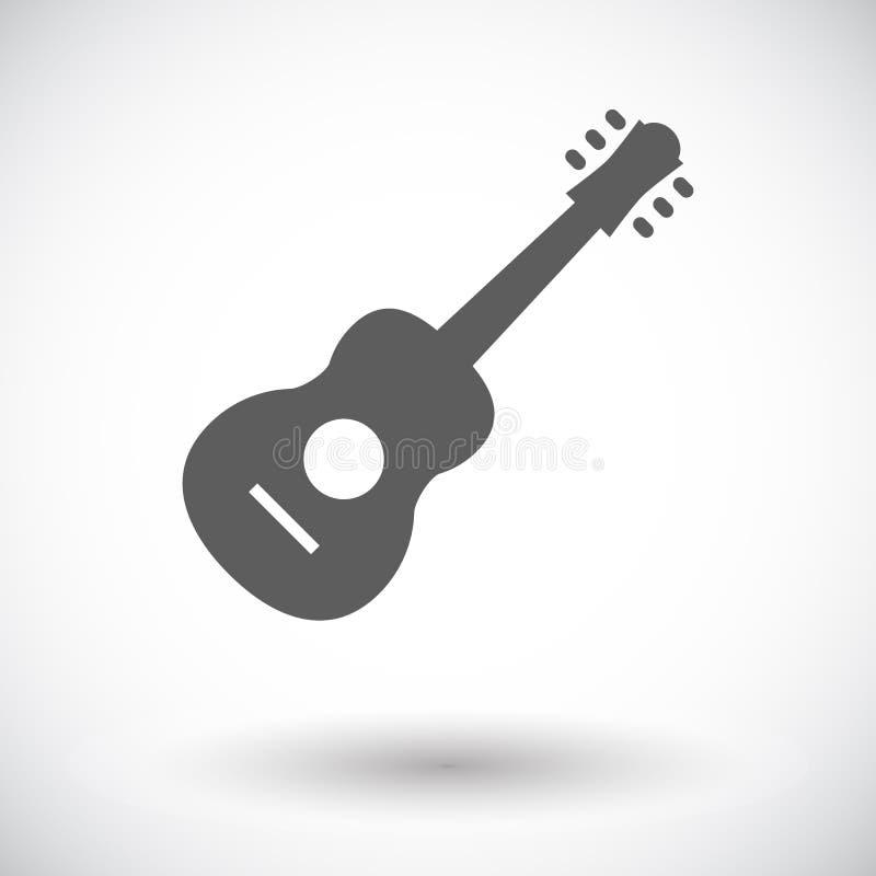 Εικονίδιο κιθάρων ελεύθερη απεικόνιση δικαιώματος