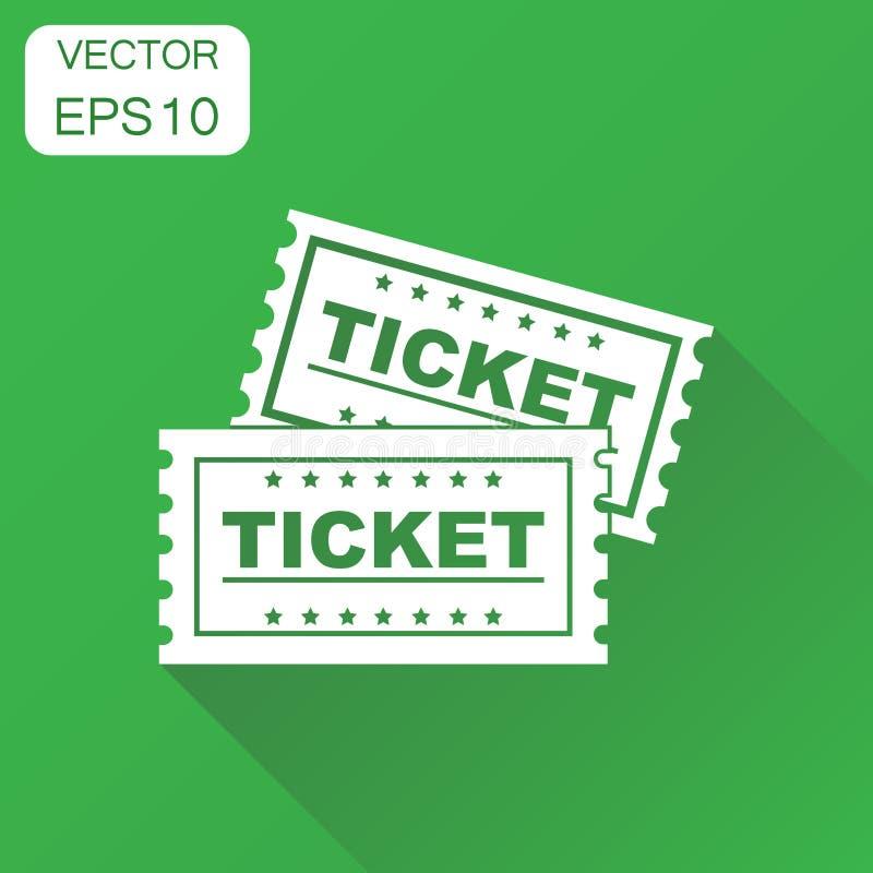 Εικονίδιο κινηματογράφων εισιτηρίων Η επιχειρησιακή έννοια αναγνωρίζει ένα εικονόγραμμα εισιτηρίων διανυσματική απεικόνιση