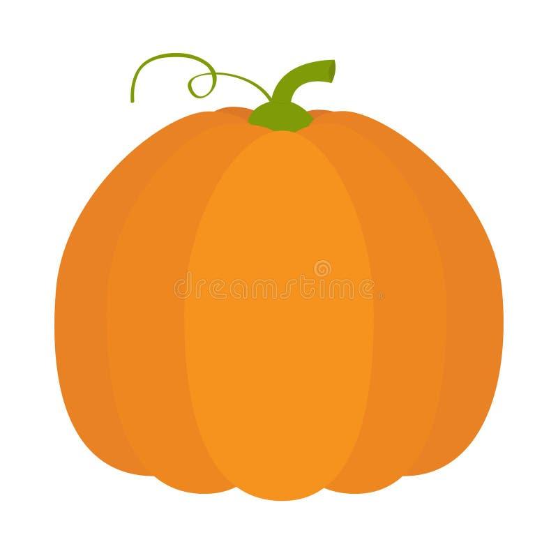 Εικονίδιο κολοκύθας Πορτοκαλί χρώμα Φυτική συλλογή Φρέσκα αγροτικά υγιή τρόφιμα Κάρτα εκπαίδευσης για τα παιδιά απομονωμένο αποκρ διανυσματική απεικόνιση
