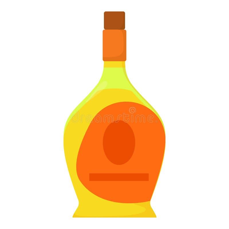 Εικονίδιο κρασιού λιμένων, ύφος κινούμενων σχεδίων διανυσματική απεικόνιση