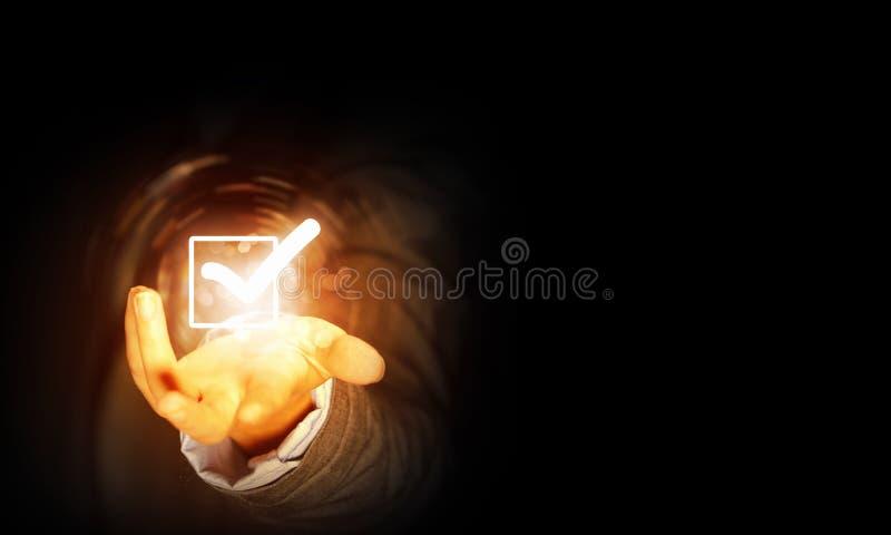 Εικονίδιο κροτώνων ελέγχου στοκ φωτογραφία με δικαίωμα ελεύθερης χρήσης