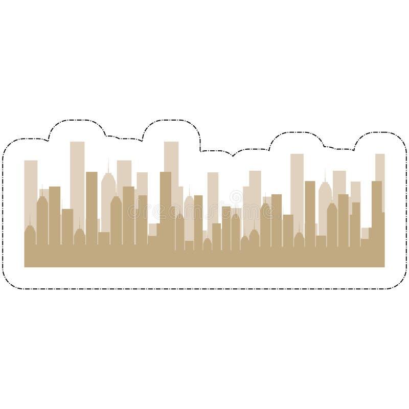 Εικονίδιο κτηρίων πόλεων στοκ εικόνες