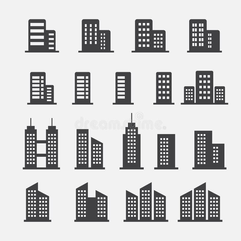 Εικονίδιο κτιρίου γραφείων ελεύθερη απεικόνιση δικαιώματος
