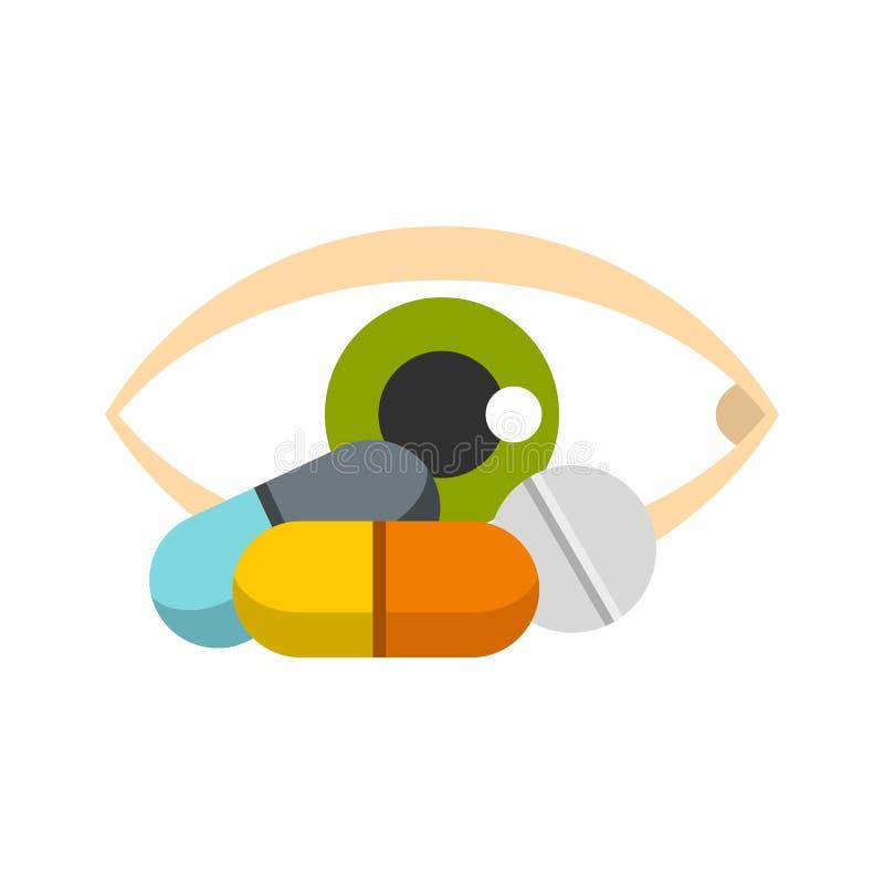 Εικονίδιο ματιών, επίπεδο ύφος απεικόνιση αποθεμάτων
