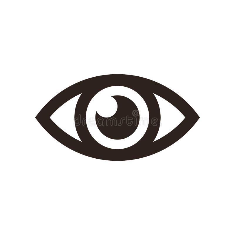 Εικονίδιο ματιών διανυσματική απεικόνιση