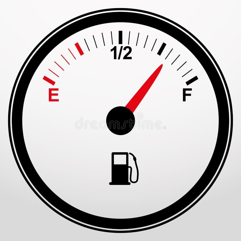 Εικονίδιο μετρητών καυσίμων αυτοκινήτων, διάνυσμα διανυσματική απεικόνιση