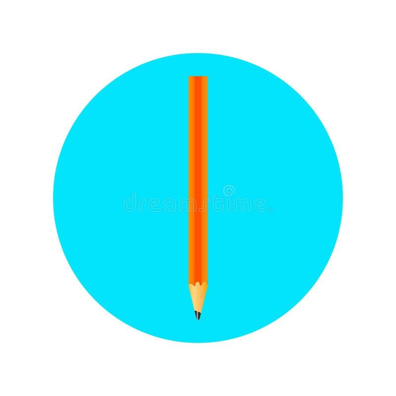 Εικονίδιο με ένα μολύβι στοκ εικόνες