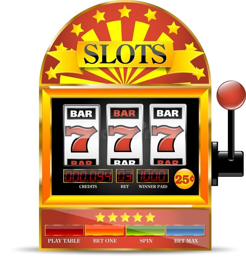 Εικονίδιο μηχανημάτων τυχερών παιχνιδιών με κέρματα απεικόνιση αποθεμάτων