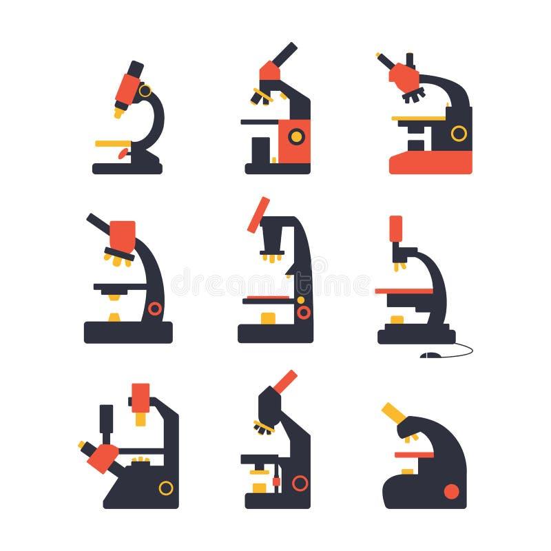 Εικονίδιο μικροσκοπίων διανυσματική απεικόνιση
